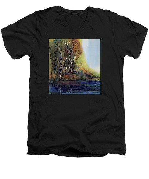 Reflections Men's V-Neck T-Shirt by Carolyn Doe