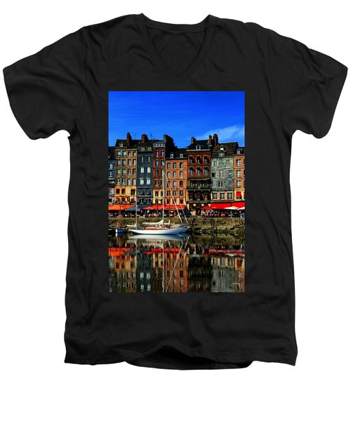 Reflections Honfleur France Men's V-Neck T-Shirt