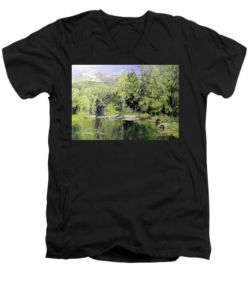 Reflections Men's V-Neck T-Shirt by Laurie Rohner