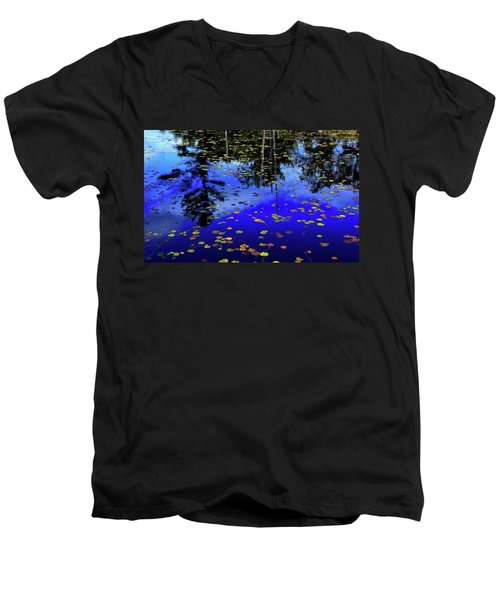 Reflections  Men's V-Neck T-Shirt by Lyle Crump