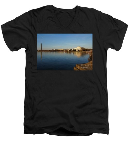 Reflections  Men's V-Neck T-Shirt by Megan Cohen