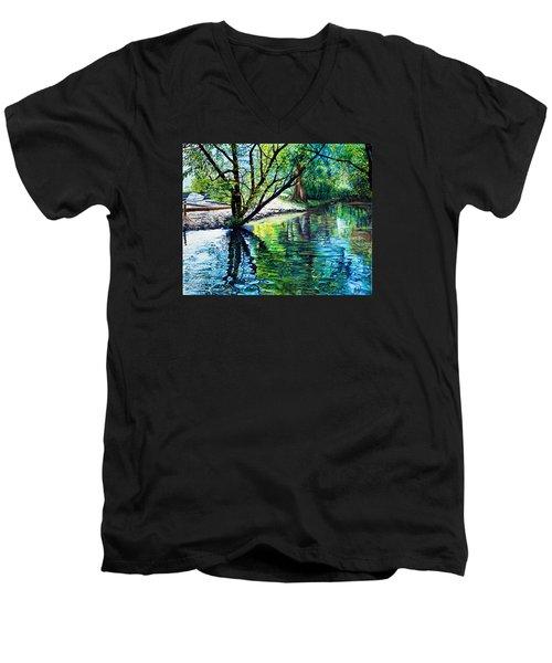 Trees Reflections Men's V-Neck T-Shirt