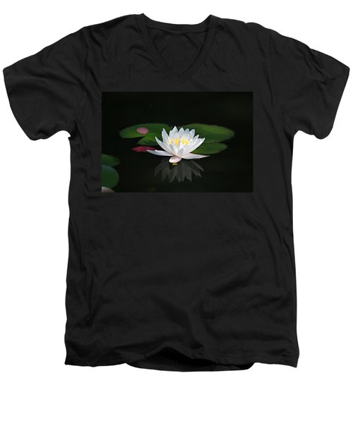 Reflections Of A Water Lily Men's V-Neck T-Shirt