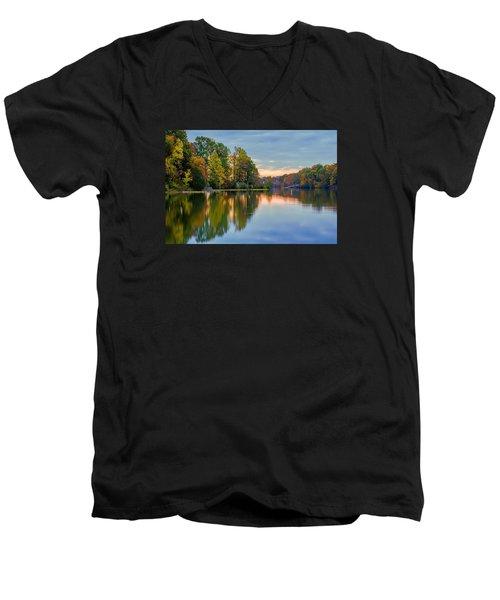 Reflections Of Autumn Men's V-Neck T-Shirt