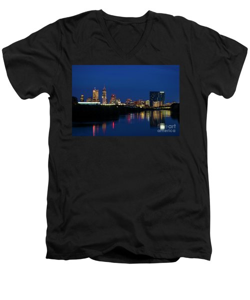 Men's V-Neck T-Shirt featuring the photograph Reflections Of Indy - D009911 by Daniel Dempster