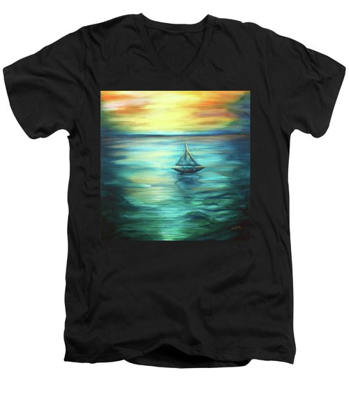Reflections Of Peace Men's V-Neck T-Shirt