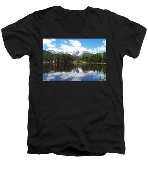Reflections Of Sprague Lake Men's V-Neck T-Shirt