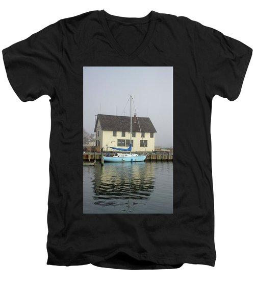 Reflections Of The Boat Builder Men's V-Neck T-Shirt