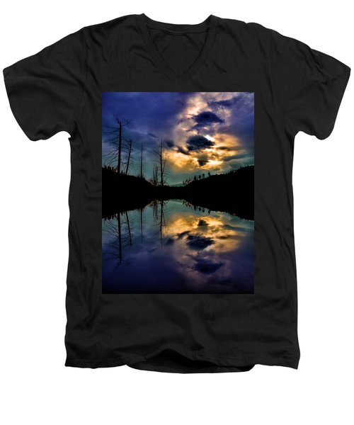 Men's V-Neck T-Shirt featuring the photograph Reflections by Tara Turner