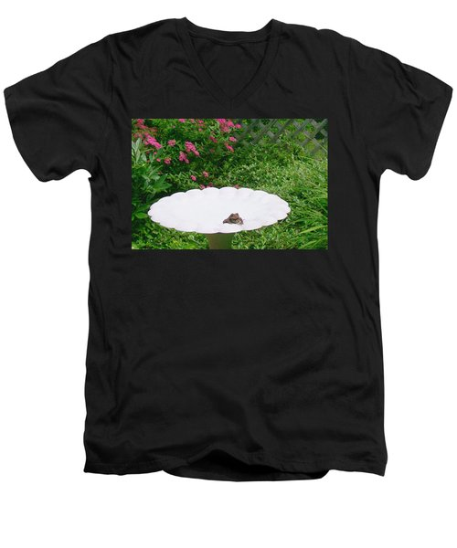 Men's V-Neck T-Shirt featuring the digital art Refreshing by Barbara S Nickerson