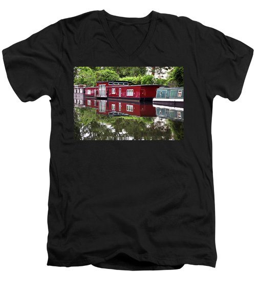 Regent Houseboats Men's V-Neck T-Shirt by Keith Armstrong