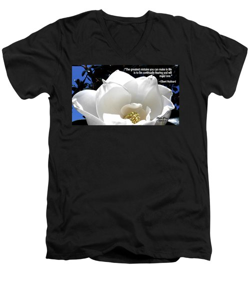 Relief 2, With Quote.  Men's V-Neck T-Shirt