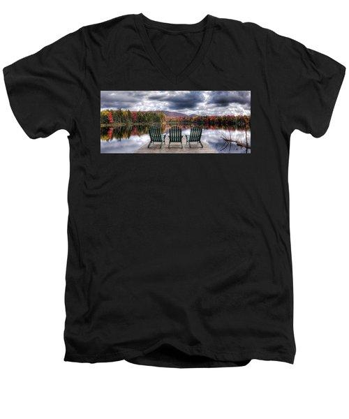 Relishing Autumn Men's V-Neck T-Shirt by David Patterson