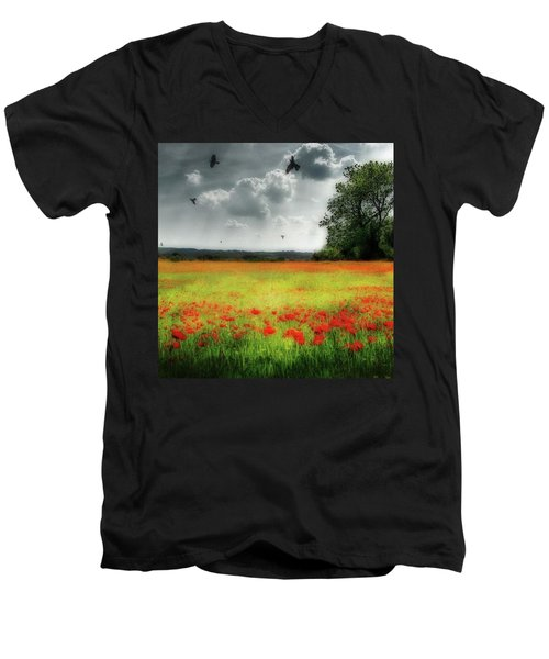 Remember #rememberanceday #remember Men's V-Neck T-Shirt
