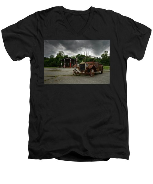 Men's V-Neck T-Shirt featuring the photograph Remnants Of Yesterday by Renee Hardison