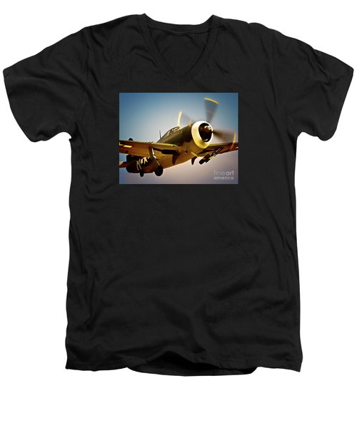 Republic P-47 Thunderbolt Thunder Jug Men's V-Neck T-Shirt