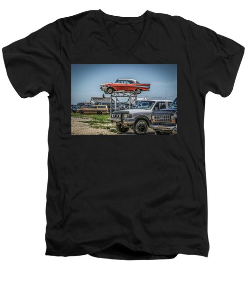 Reserved Parking Men's V-Neck T-Shirt by Ray Congrove