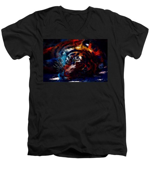 Resting Tiger Men's V-Neck T-Shirt