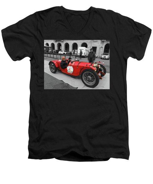 Retro Auto Fiat Balilla Men's V-Neck T-Shirt