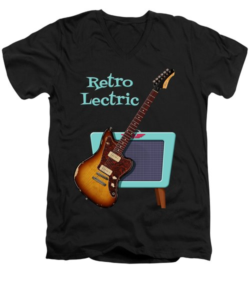 Retro Lectric Men's V-Neck T-Shirt