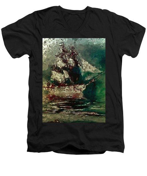 Return Of The Flying Dutchman Men's V-Neck T-Shirt