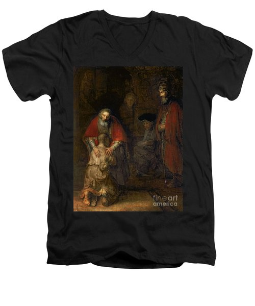 Return Of The Prodigal Son Men's V-Neck T-Shirt