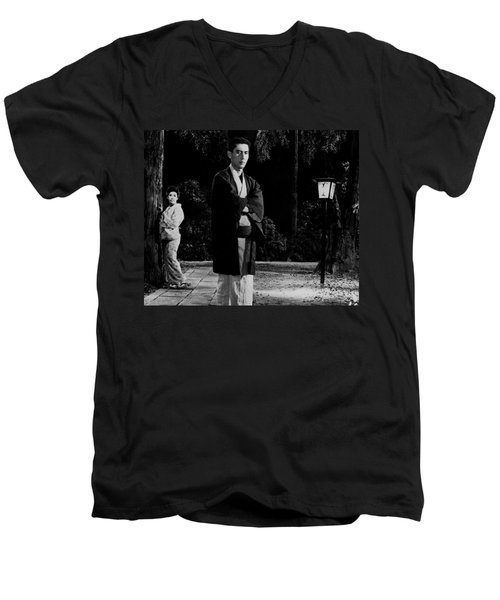 Return Of The Young Boss Men's V-Neck T-Shirt by Dan Twyman