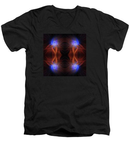 Men's V-Neck T-Shirt featuring the photograph Revealed Light. Mystery Of Colors by Jenny Rainbow