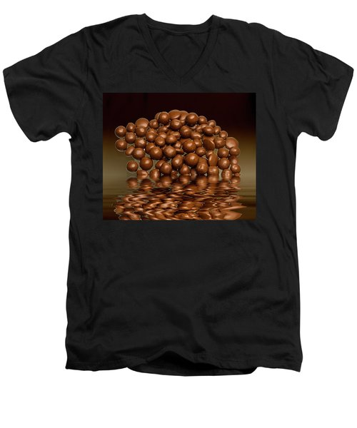 Men's V-Neck T-Shirt featuring the photograph Revels Chocolate Sweets by David French
