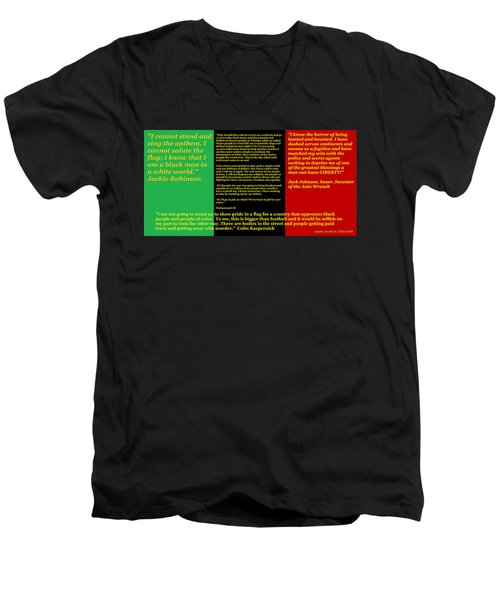 Colin Kaepernick Rbg Men's V-Neck T-Shirt