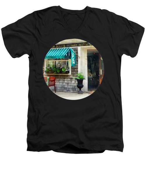 Rhode Island - Antique Shop Newport Ri Men's V-Neck T-Shirt