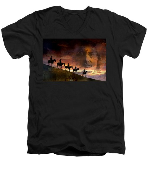 Riding Into Eternity Men's V-Neck T-Shirt