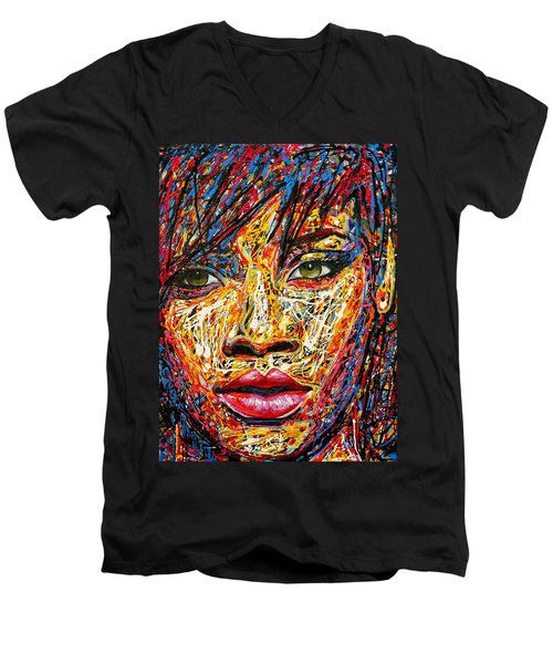 Rihanna Men's V-Neck T-Shirt