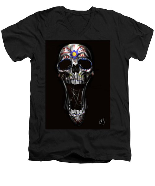 R.i.p Men's V-Neck T-Shirt by Pete Tapang