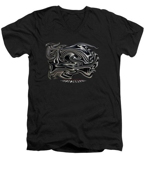 Rippled Ripples Transparency Men's V-Neck T-Shirt