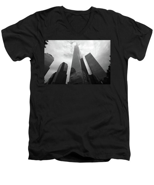 Men's V-Neck T-Shirt featuring the photograph Risen Out Of The Rubble by John Schneider