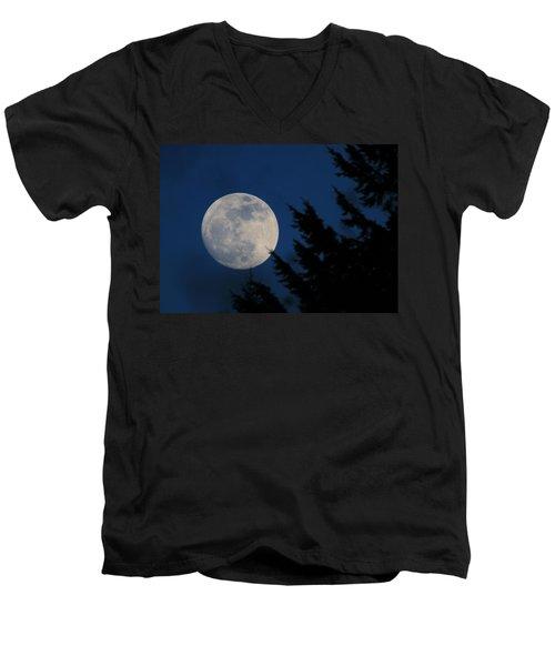 Rising High And Almost Full Men's V-Neck T-Shirt