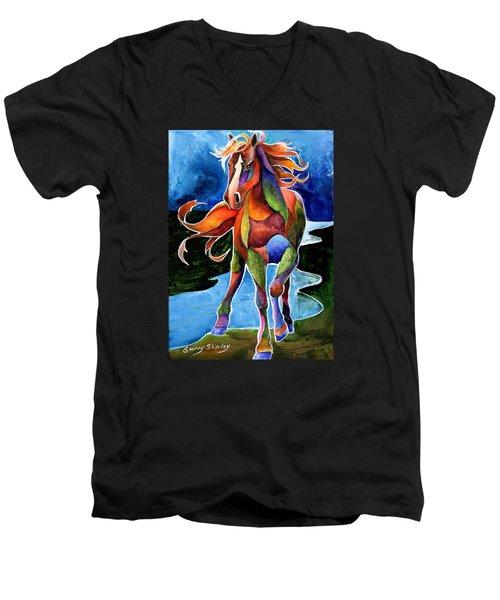 River Dance 1 Men's V-Neck T-Shirt