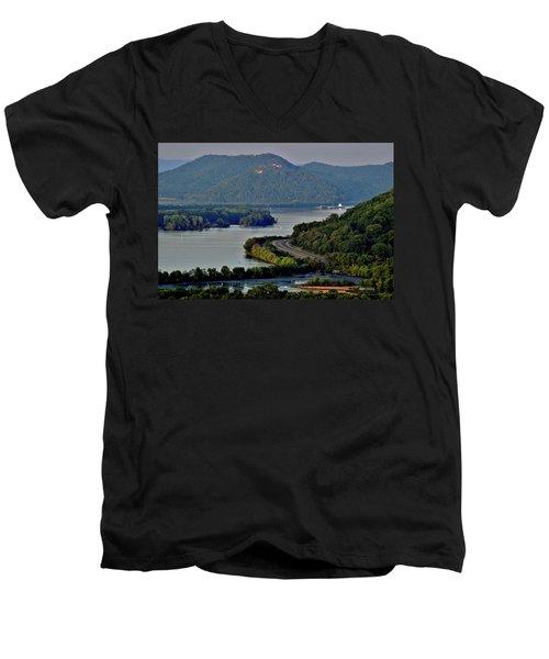 River Navigation Men's V-Neck T-Shirt