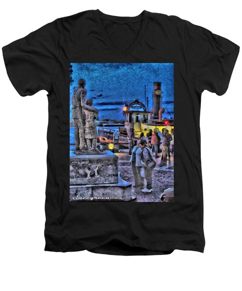 River Street Blues Men's V-Neck T-Shirt