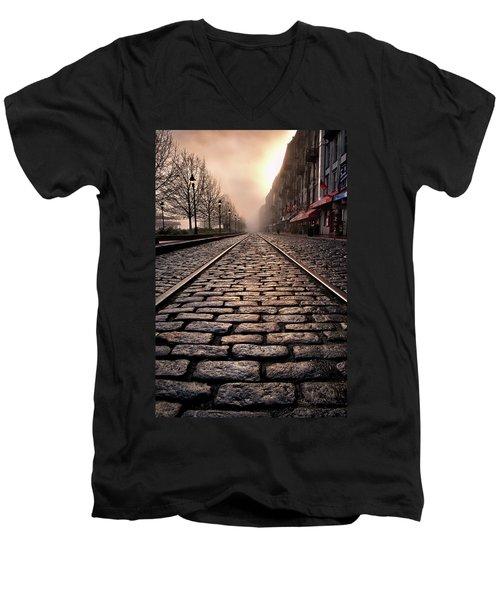 River Street Railway Men's V-Neck T-Shirt