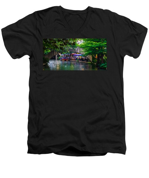 River Walk Dining Men's V-Neck T-Shirt