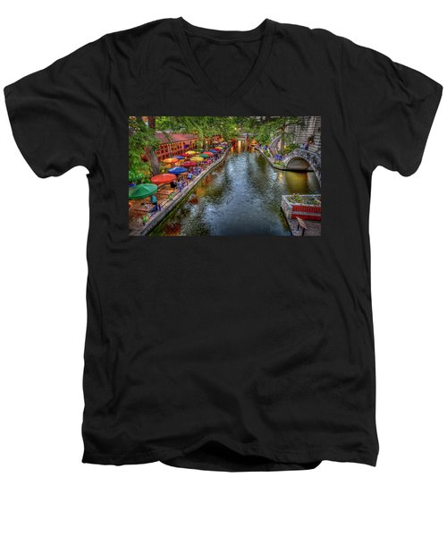 Riverwalk San Antonio Texas Men's V-Neck T-Shirt