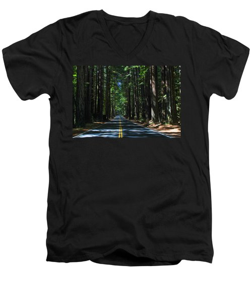 Road To Mendocino Men's V-Neck T-Shirt