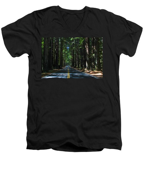 Road To Mendocino Men's V-Neck T-Shirt
