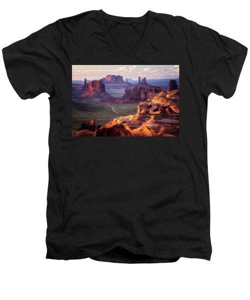 Road To Nowhere  Men's V-Neck T-Shirt by Nicki Frates