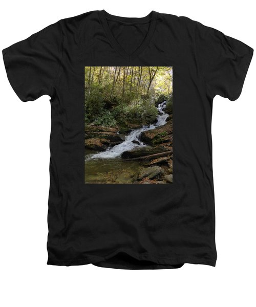 Roaring Fork Falls - October 2015 Men's V-Neck T-Shirt