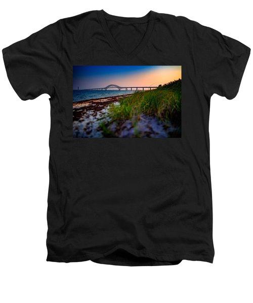 Robert Moses Causeway Men's V-Neck T-Shirt