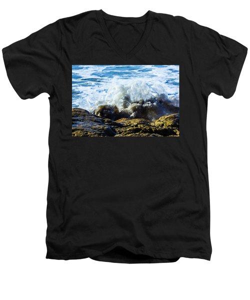 Wave Meets Rock Men's V-Neck T-Shirt
