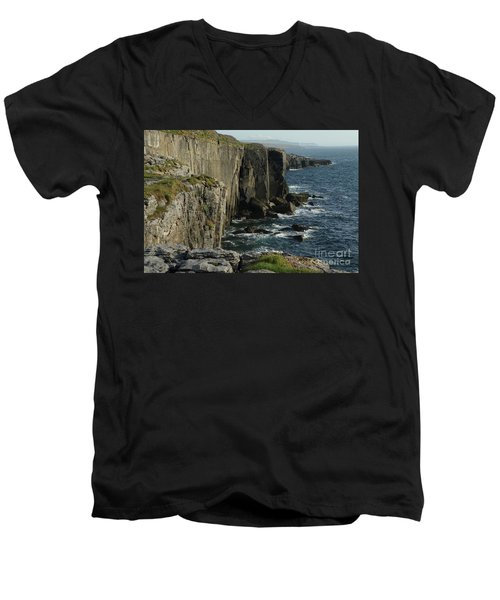 Rock Climbing Burren Men's V-Neck T-Shirt